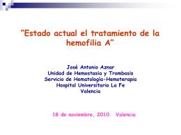 CONCEPTOS E HISTORIA DE LA HEMOFILIA