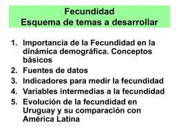 Tasas de Fecundidad por edad Paraguay (1995), Uruguay …