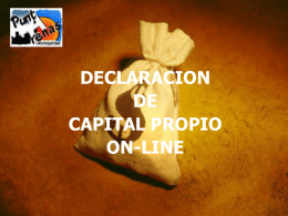 DECLARACION DE CAPITAL PROPIO ON-LINE