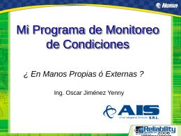 Diapositiva 1 - : : : MPC - Mantenimiento Predictivo