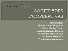 SOCIEDADES COOPERATIVAS