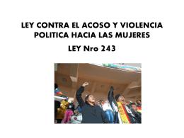 LEY CONTRA EL ACOSO POLITICO