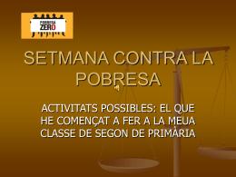 SETMANA CONTRA LA POBRESA