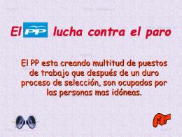 AG2- El PP lucha contra el paro