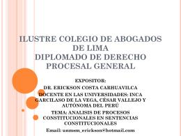 ILUSTRE COLEGIO DE ABOGADOS DE LIMA DIPLOMADO …