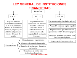 LEY GENERAL DE INSTITUCIONES FINANCIERAS