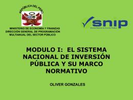 PROYECTO DE DIRECTIVA GENERAL DEL SNIP