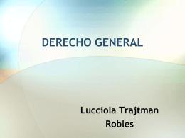 DERECHO GENERAL