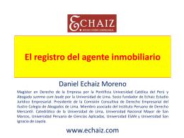 El Agente Inmobiliario - DIPLOMADOS EN DERECHO