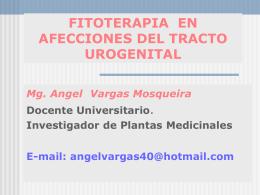 FITOTERAPIA EN AFECCIONES DEL TRACTO UROGENITAL