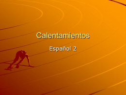 Calentamientos - WLWV Staff Blogs