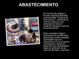 ABASTECIMIENTO - BIBLIOTECA VIRTUAL
