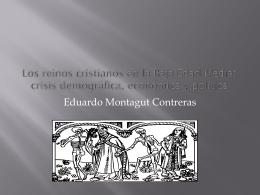 Los reinos cristianos en la Baja Edad Media: crisis
