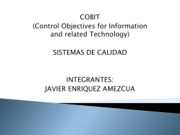 Diapositiva 1 - cobit71it | COBIT