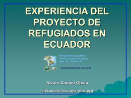 EXPERIENCIA DEL PROYECTO DE REFUGIADOS EN …