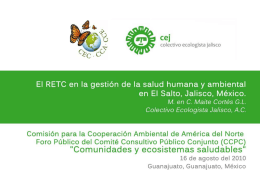 Diapositiva 1 - Commission for Environmental Cooperation
