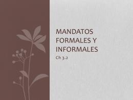Mandatos formales y informales