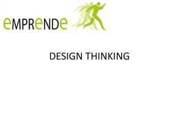 DESIGN THINKING - Navarra Emprende