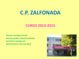 C.P. ZALFONADA CURSO 2014-2015