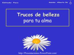TRUCOS DE BELLEZA - Presentaciones Power Point