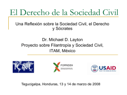 El Derecho de la Sociedad Civil
