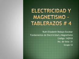 Electricidad y Magnetismo – Tablerazos # 3