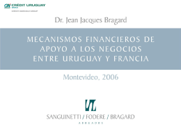 MECANISMOS FINANCIEROS DE APOYO A LOS …