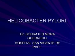 HELICOBACTER PYLORI.