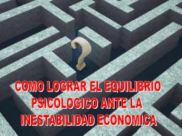 COMO LOGRAR EL EQUILIBRIO PSICOLOGICO ANTE LA