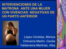 INTERVENCIONES DE LA MATRONA ANTE UNA MUJER …