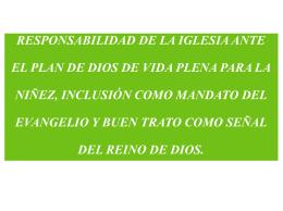 RESPONSABILIDAD DE LA IGLESIA ANTE EL PLAN DE …