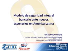 Modelo de seguridad integral bancario ante nuevos