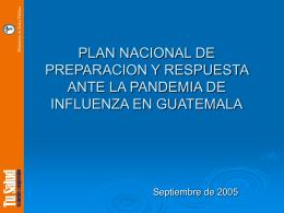 PLAN NACIONAL DE PREPARACION Y RESPUESTA ANTE …