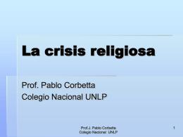 La crisis religiosa