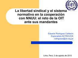 La libertad sindical y el sistema normativo en la