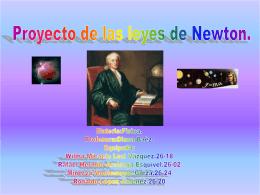 Segunda Ley de Newton o Ley de Fuerza