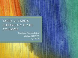 TAREA 2: CARGA ELECTRICA Y LEY DE COULOMB