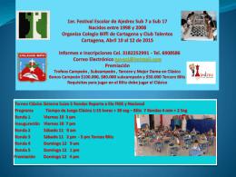 1er. Festival Escolar de Ajedrez Sub 7 a Sub 17 Nacidos