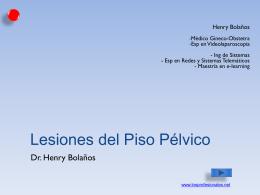 LESIONES DEL PISO PELVICO