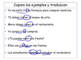 Copien los ejemplos y traduzcan
