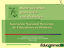 BASICOS DE DIABETES Y EDUCACION