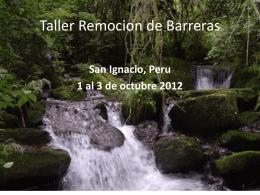 Taller Remocion de Barreras