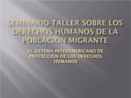 Seminario-Taller sobre los Derechos Humanos de la