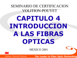 INTRODUCCION A FIBRAS OPTICAS