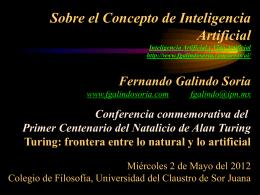 Sobre el Concepto de Inteligencia Artificial / Turing