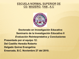 Escuela Normal Superior de Cd. Madero, Tam., A.C