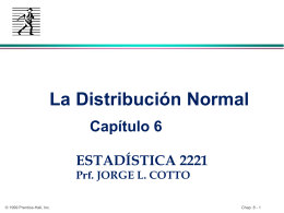 Chap. 8: The Normal Distribution