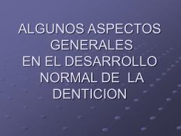 ASPECTOS GENERALES EN EL DESARROLLO DE LA …