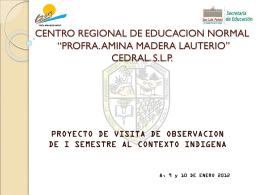 """CENTRO REGIONAL DE EDUCACION NORMAL """"PROFRA. …"""