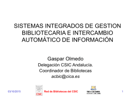 SISTEMAS INTERGRADOS DE GESTION BIBLIOTECARIA E